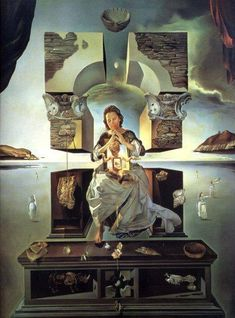 "@PinFantasy - Salvador Dali ""The Madonna of Port Lligat"" (1950) ~~ For more: - ✯ http://www.pinterest.com/PinFantasy/arte-~-pint-surrealismo-dal%C3%AD-y-otros/"