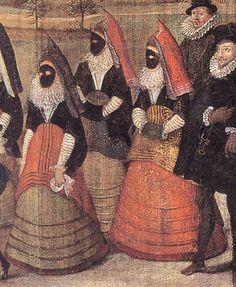 Viaje de la emperatriz María desde Praga. 1601, Hans van der Beken. Monasterio de las Descalzas Reales, Madrid Vazquiña levantada enseñando el verdugado.