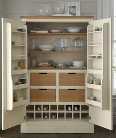 Hand Made Painted Bespoke Kitchen Larder Cupboard Unit | Kitchen ...