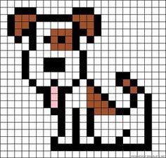 Puppy perler bead pattern http://mistertrufa.net/librecreacion/culturarte/?p=12