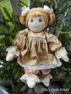 Ulla's Quilt World: Doll and pattern by Ullas Quilt World