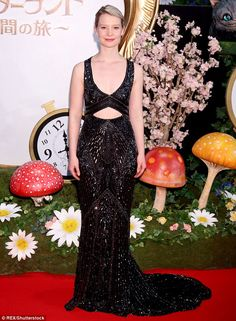 Vision in black:Mia Wasikowska was enchanting fans all over again on Monday as she attend...
