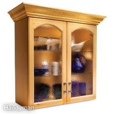 Convert Wood Cabinet Doors to Glass-- familyhandyman.com