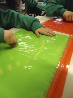 Painting using zip lock bags.