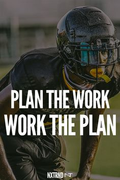 Plan the work. Work the plan. #FootballQuotes #SportQuotes #Motivation #Inspiration #Football #Nxtrnd #Training Best Football Quotes, Basketball Quotes, Sport Inspiration, Motivation Inspiration, Motivational Quotes For Athletes, Mouth Guard, Sport Quotes, Caption, Life Quotes