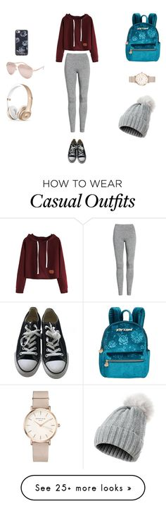 """casual"" by bella-fortunato on Polyvore featuring Treasure & Bond, Betsey Johnson, Converse, Kate Spade, ROSEFIELD and Full Tilt"