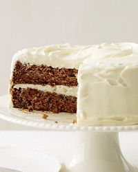 Classic Carrot Cake with Fluffy Cream Cheese Frosting Recipe on Food & Wine - Tried and super yummy! I did a 3 tiered cake and doubled the frosting recipe. I had a lot leftover, but next time I'll add more to the middle layers.