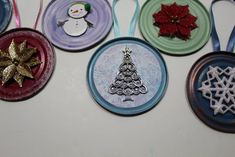 Tin Can Lid Ornaments