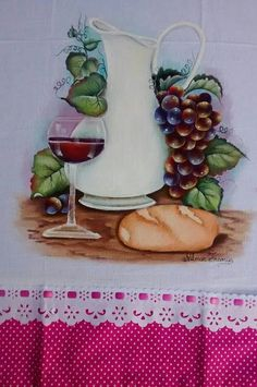 Pão e vinho -pintura
