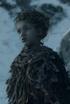 Leaf (one of the Children of the Forest) - Octavia Alexandru in Game of Thrones Season 4.