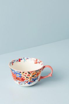 "Slide View: 1: Liberty for Anthropologie Wiltshire Garden Teacup $14 hand wash 15 oz 3"" H 4.75""D"