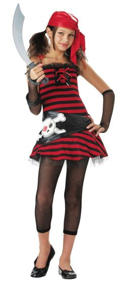Girls Cutie Pirate Costume - Party City-I might be this for Halloween