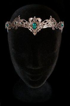 Elven Medieval Crown Headdress Tiara Circlet por AMonSeulDesir