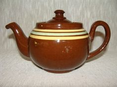 Vintage Ridgway Redware Brown Betty Teapot Alb Pottery England Small Tea for One  