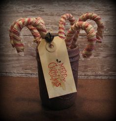 Candy Canes Primitive Christmas Decoration Home by ThatSallie, $18.00