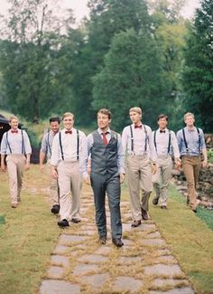 #Country wedding ... Groom's Wedding Guide ... / Padrinos de la boda