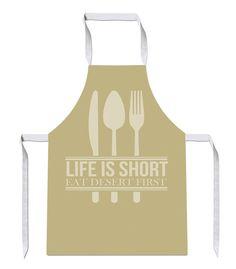 Life is Short Eat Desert Novelty Funny APRON Kitchen Tabard Linen Dinner 17