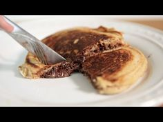 Quick And Easy Way To Make NUTELLA-STUFFED PANCAKES [WATCH]