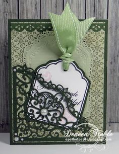 """A Path of Paper: Inspired Stamps Birthday Card-- Birthday card inspiration. Card Size:  4.25"""" x 5.5"""""""