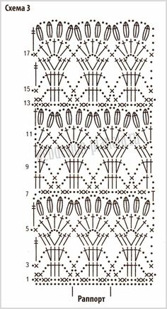 Crochet Patterns Dress Knitting with the spells, the hook and the car. Crochet Stitches Chart, Crochet Motifs, Crochet Borders, Crochet Diagram, Crochet Lace, Crochet Patterns, Crochet Granny, Motif Bikini Crochet, Crochet Skirt Pattern