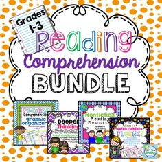 Reading Comprehension: Reading Comprehension Bundle This packet contains 4 of my best selling products. Save $7.50 when you purchase them bundled.