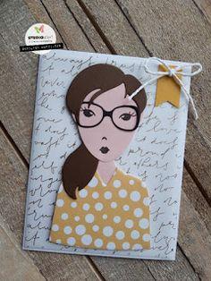 Labels, Studio Lighting, Little Miss, Cute Cards, Die Cutting, Art Girl, Card Ideas, Stamps, Scrapbooking