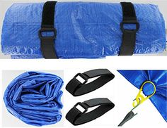 VAS Campers Blue 9X12 Tarp Kit 2 With 4 Super Snap Reusable Grommets Tarp Cover Ground Cover Mat Emergency Shelter >>> Click image for more details.(This is an Amazon affiliate link)
