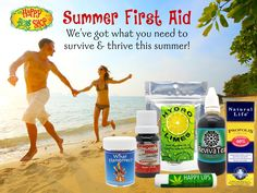 Create a natural summer first aid kit and be ready for seasonal sillies such as sunburn, dehydration, insect bites, hangovers, and too-much-fun-induced lowered immunity.