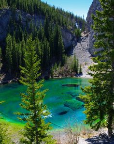 Gorgeous water at Grassi Lakes, Canmore, Alberta