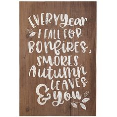 Sincere Surroundings 'Autumn Leaves & You' Wall Sign ($23) ❤ liked on Polyvore featuring home, home decor, wall art, autumn tree wall art, wall mounted signs, wooden wall signs, wooden wall art and wood home decor
