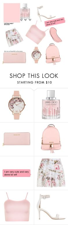 """""""Scream Queen"""" by pupsink ❤ liked on Polyvore featuring Olivia Burton, Jimmy Choo, MICHAEL Michael Kors, Zimmermann, WearAll, Gianvito Rossi and NYX"""