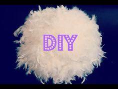 DIY / tuto : fabriquer son abat jour plume idée cadeau de noel - YouTube