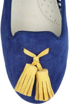 Charles Philip Shanghai | Tasseled suede loafers | NET-A-PORTER.COM