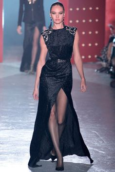 Fantastic Jason Wu black gown on Candice Swanepoel