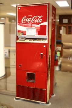 Vintage Coke Machine - a little cup would drop down, ice would spill out into the cup and then the pop would trickle out.  It was a trip to straighten the cup before it tipped over and the pop went all over.  Good times!