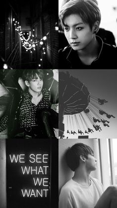 Kpop Wallpaper Asthetic Black and White - JungKook - BTS