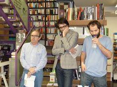 Presentación de ABIERTO de Juan Marqués. Con Manolo Borrás y David Mayor.