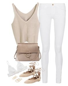 Untitled#4344 by fashionnfacts on Polyvore featuring polyvore, fashion, style, Frame Denim, Monki, Schutz, Chloé, MANGO and clothing