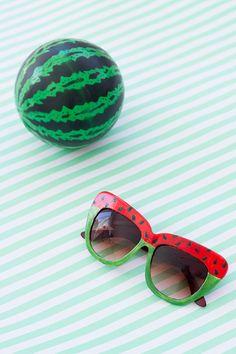DIY Watermelon Sunglasses
