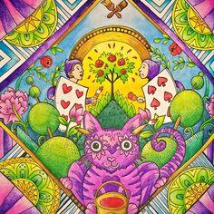 Escape to Wonderland ♠♥ Koh-i-noor Mondeluz #escapetowonderland #coloringbook #colouringbook #aliceinwonderland #alice #coloringforadults #podróżdokrainyczarów #alicjawkrainieczarów #kolorowaniedladorosłych #kohinoor #mondeluz #mondeluz72 #kolorowamafia