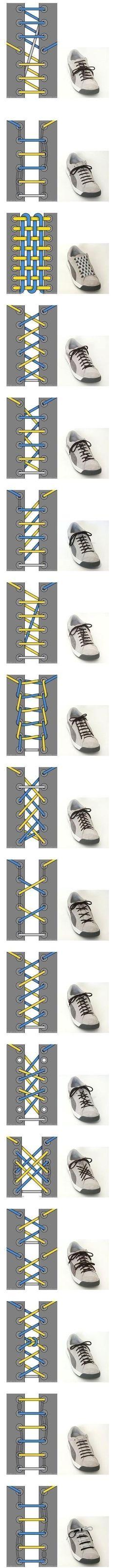 wiązanie sznurówek