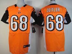 Nike Cincinnati Bengals #68 Kevin Zeitler Orange Elite Jersey
