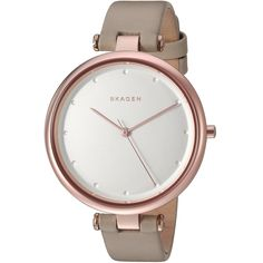 Fashion forward design and technical mastery. Skagen watches offer elegance, functionality and durability that is affordable and luxurious. This women's watch from the Tanja collection features a beig
