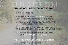 weddings mn. pinterest monthly contest 20 pins for $25! Dana J Photography.  FREE 25 AMAZON GIFT CARD! see blog for details!