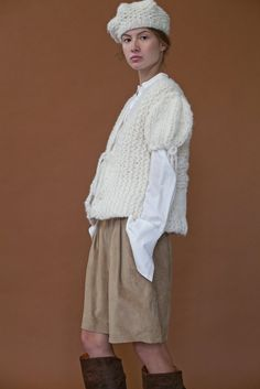 The Chloe beret and The Blanch cardi Clean Slate, Beret, Hand Knitting, Chloe, Ruffle Blouse, Collection, Tops, Women, Fashion