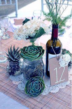 Succulents as Wedding Elements | www.BridalBook.ph #succulents #weddings #weddingstyling #receptiondecor