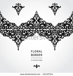 Vintage greeting card with swirls and floral motifs in retro style. Template frame design for card. Vector seamless border in Victorian style. You can place your text in the empty place.