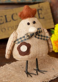 Farm Friend - Hen, Burlap