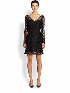 HOLIDAY - MILLY Long-Sleeve Lace Dress