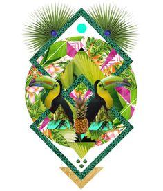▲ TROPICANA ▲ by KRIS TATE x BOHEMIAN BLAST Art Print #kristate